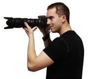 Fotógrafo masculino Imagens de Stock