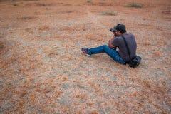 Fotógrafo na ação Imagem de Stock Royalty Free