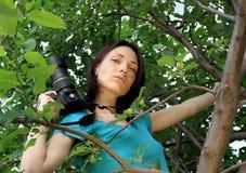 Fotógrafo na natureza. Foto de Stock
