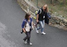 Fotógrafo na reunião de Sanremo Foto de Stock