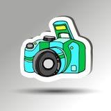 fotógrafo negro digital del foco de la lente del vector Imágenes de archivo libres de regalías