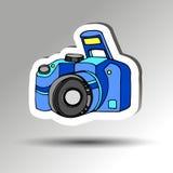 Fotógrafo negro digital del foco de la lente del vector de la cámara Imagen de archivo libre de regalías
