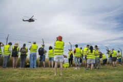 Fotógrafo no airshow Aeromania, Tuzla, Romênia Fotografia de Stock