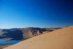 Fotógrafo no deserto Fotografia de Stock