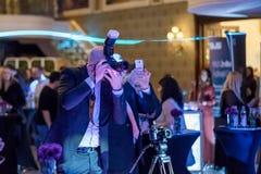 Fotógrafo no evento imagens de stock