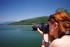 Fotógrafo no trabalho Fotos de Stock Royalty Free