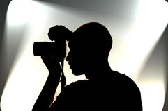 Fotógrafo no trabalho Imagens de Stock Royalty Free