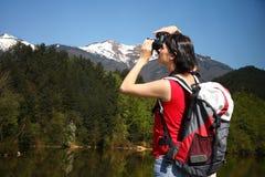 Fotógrafo novo do turista Imagens de Stock