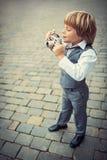 Fotógrafo pequeno Fotografia de Stock