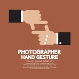 Fotógrafo plano Hand Gesture del diseño Imagenes de archivo