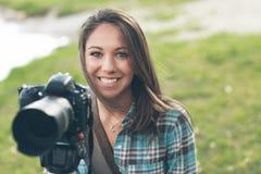 Fotógrafo profesional sonriente Foto de archivo
