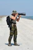 Fotógrafo profissional ao ar livre Imagens de Stock Royalty Free