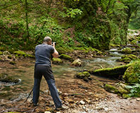 Fotógrafo profissional da natureza Fotografia de Stock Royalty Free