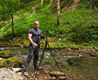 Fotógrafo profissional da natureza Fotografia de Stock