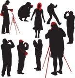 Fotógrafo que disparam no modelo Ilustração do Vetor