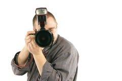 Fotógrafo que toma a foto Fotos de Stock Royalty Free