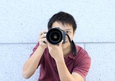 Fotógrafo que toma una foto Fotografía de archivo