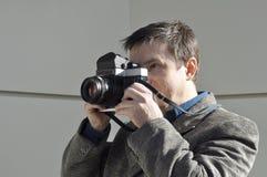 Fotógrafo retro Fotografia de Stock