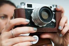 Fotógrafo retro Imágenes de archivo libres de regalías