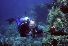 Fotógrafo subacuático Fotografía de archivo libre de regalías