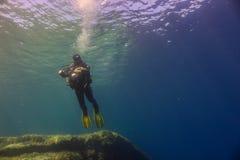 Fotógrafo subacuático Imagen de archivo