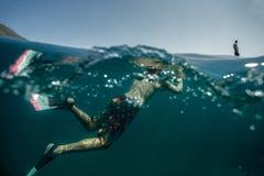 Fotógrafo subaquático Fotos de Stock