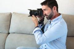 Fotógrafo Working Fotografía de archivo
