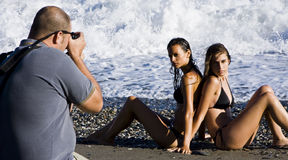 Fotógrafo y modelos Fotos de archivo libres de regalías