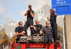 Fotógrafos de la policía Imagen de archivo libre de regalías