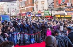 Fotógrafos de prensa en Londres fotografía de archivo