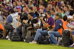 Fotógrafos del deporte Imagen de archivo