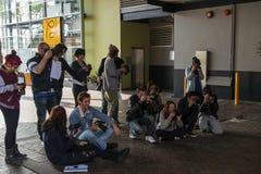 Fotógrafos del estudiante Imagenes de archivo