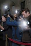 Fotógrafos en el evento mediático foto de archivo libre de regalías