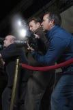 Fotógrafos en el evento mediático imagen de archivo libre de regalías