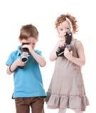 Fotógrafos jovenes Fotografía de archivo