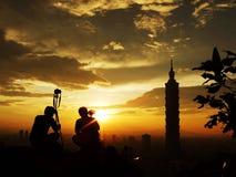 Fotógrafos y Taipei    Imagen de archivo