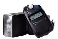 Fotómetro y flash Imagenes de archivo