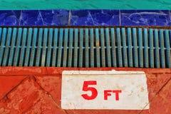 5 fot anvisningar Arkivbild