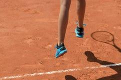 Fot av tennisspelaren Fotografering för Bildbyråer