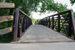 Fot- bro och cykel Royaltyfri Foto