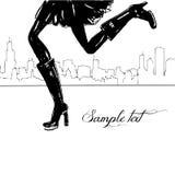 fot flicka royaltyfri illustrationer