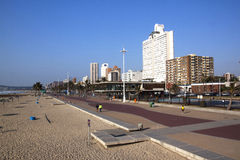 Fot- gångbana på Beachfront Durban, Sydafrika Royaltyfri Foto