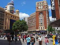 Fot- galleria, centrala Madrid Arkivbild