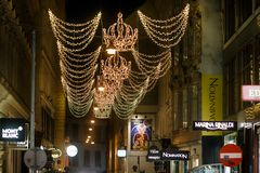 Fot- gata i Wien royaltyfri fotografi