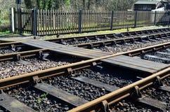 Fot- järnväg korsning. Royaltyfria Foton
