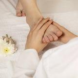 fot massage Arkivfoton