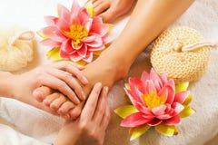 fot massage royaltyfri foto