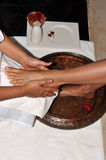 fot massage Royaltyfria Bilder