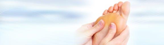 fot massage Fotografering för Bildbyråer