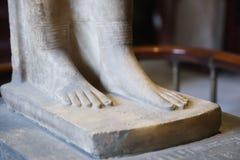 Fot på det egyptiska museet Royaltyfria Bilder